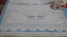 Barrado de crochê Cisne branco