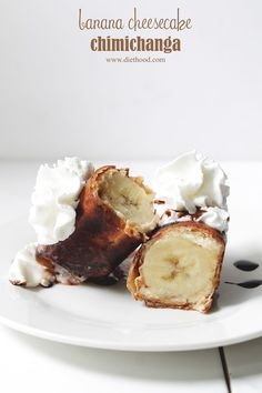 Banana Cheesecake Chimichangas | #recipe #bananas #chimichanga