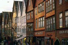 The architecture of Bryggen (Bergen) is  lovely. Classic Norwegian fishing village.