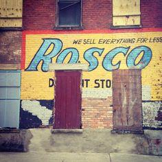 Rosco Discount Store ghost sign, Over-the-Rhine, Cincinnati