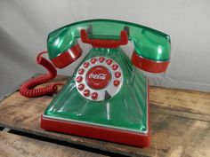 Vintage Coca Cola Phone Rotary Style Push by WesternKyRustic