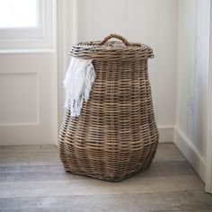 Pretty Laundry Baskets Beauteous Real Simple Style Vintage Laundry Basket Full Old Blue Linens Inspiration Design