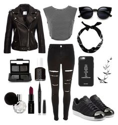 """"""""""" by devilsister4 on Polyvore featuring мода, River Island, adidas Originals, NARS Cosmetics, Essie, Marc Jacobs, Smashbox, women's clothing, women и female"""