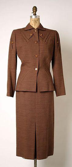 1945 Gilbert Adrian   Suit   American   The Metropolitan Museum of Art