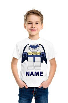 BATMAN  LEGO T Shirt   Add a Name  . by HeadlessShirts on Etsy