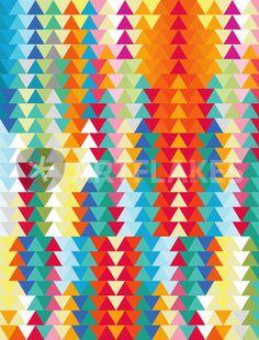 """""""Geometric Triangles Sunset"""" Digital Art von Francisco Valle jetzt als Poster, Kunstdruck oder Grußkarte kaufen.."""