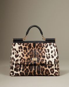 From the collection of bags Dolce & Gabbana Fall-Winter 2012-2013 Miss Sicily the long-haired animal.