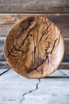 Hand crafted ash wood bowl