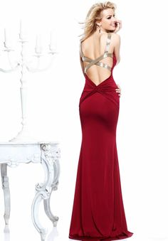 Polka Dot Sheath / Column Sweetheart Floor-length 2014 New Style Prom Dress at Storedress.com