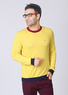 United #Colors of Benetton Solid Round Neck Casual Men's #Sweater