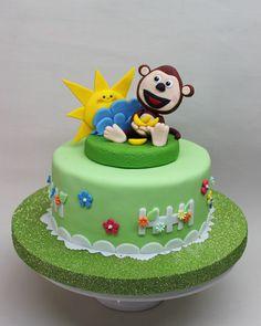Torta Mono Bubba by Violeta Glace Birthdays, Birthday Cake, Desserts, Kids, Celebrations, Deco, Fondant Cakes, Cake Birthday, Pastries