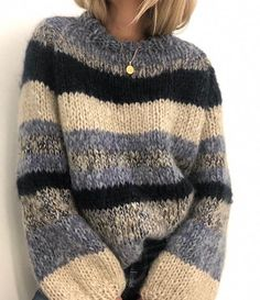 Ravelry: My spring sweater pattern by Siv Kristin Olsen Knitting Kits, Sweater Knitting Patterns, Knitting Sweaters, Knit Fashion, Look Fashion, Fashion Details, Pulls, Pullover Sweaters, Casual Sweaters