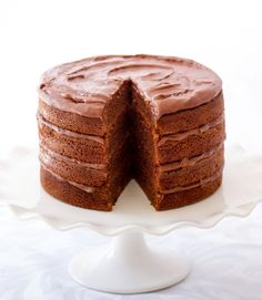 Chocolate buttermilk layer cake (recipe from Donna Hay Magazine) - picture by Tasha Seccombe