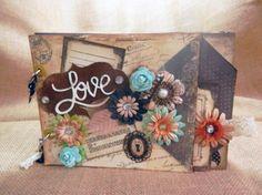 álbum scrapbooking  para bodas  papelscrapbook  adornos,flores  cintas,tintas  sellos scrapbooking,cartonnage