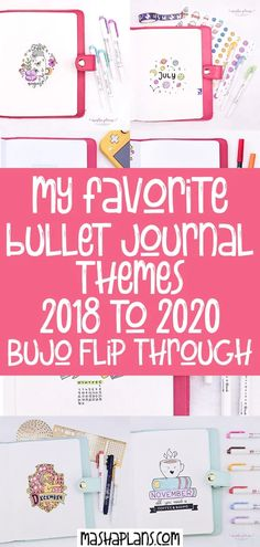 Take a look inside my 2018-2020 Bullet Journals. Get inspired by all the themes I've created so far and check out which ones have been my favorites! Take a look at tons of cover pages, weekly spreads, and more! Including a flip through video! #mashaplans #bulletjournal #bujo #bulletjournaltheme #bujotheme #bujoinspo Bullet Journal Themes, Bullet Journal Inspiration, Bullet Journal Cover Page, Bullet Journal How To Start A, Bullet Journals, My Journal, Journal Pages, Journal Covers, My Themes
