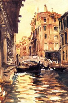 Ponte della Canonica - John Singer Sargent --LOVE this water technique & color scheme John Singer Sargent, Arte Van Gogh, Art Et Architecture, Beaux Arts Paris, Et Tattoo, Whistler, American Artists, Love Art, Les Oeuvres