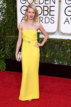 I LIKE THE DRESS, IT'S THAT HORRIBLE COLOR I HATE! 2015 Golden Globe Awards
