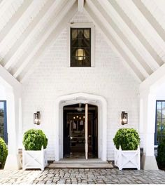 "858 Likes, 14 Comments - McALPINE (@mcalpinehouse) on Instagram: ""The porte cochere entrance of a house we designed in the Hamptons. A collaboration with the…"""