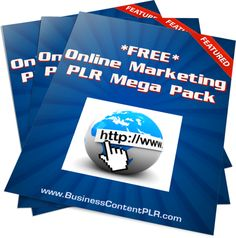 Huge FREE pack of Online Marketing PLR (plus special offer on the download page)