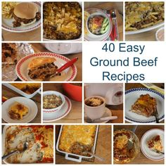 40 Ground Beef Recipes- 40 Ground Beef Recipes- Soups, Sandwiches, Pizza, Tacos, Casseroles and more!