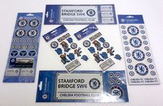Chelsea Football Club Collection Of Sticker Sets Over 70 Official CFC Stickers in Sports Memorabilia, Football Memorabilia, Trading Cards/ Stickers | eBay #HarvardMills #LordOfTheLinens #Chelsea #ChelseaFootballClub #CFC #football #sport #support