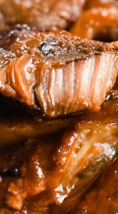 Slow Cooker BBQ Pork Steaks - fall off the bone deliciousness! ❊
