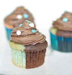 perfect half and half cupcakes!