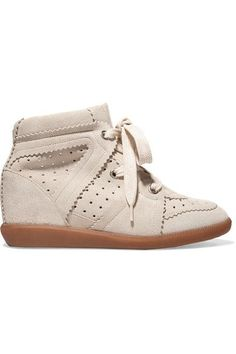 dc771f7899b8 Isabel Marant - Bobby suede wedge sneakers