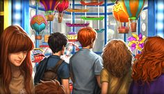 """"""" new pottermore outtakes - weasleys' wizard wheezes """" Harry Potter Fan Art, Harry Potter Fandom, Yer A Wizard Harry, The Sorcerer's Stone, Diagon Alley, Harry Potter Collection, Mischief Managed, Deathly Hallows, Light In The Dark"""