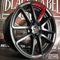 Black Rims, Black And White, Muscle Car Rims, Powder Coating Wheels, Life Hackers, Powder Coat Colors, Bmw E60, Rims For Cars, Forged Wheels