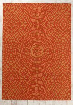 Orange Mosaic Rug