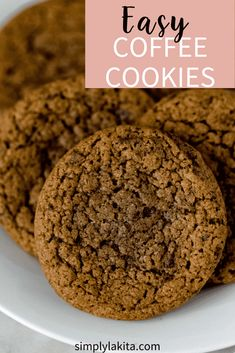 Coffee Cookies Coffee Cookies is a quick and easy cookie recipe that is sure to be a favorite for coffee lovers because it is packed with instant espresso and chocolate. Sweet, chewy, and delicious! Chocolate Chip Cookies, Chewy Sugar Cookies, Sugar Cookies Recipe, Espresso Cookies Recipe, Shortbread Cookies, Quick Cookies, Cake Mix Cookies, Yummy Cookies, Baby Cookies