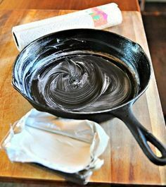 """Instructions for How to Season a Cast Iron Skillet complete with photo instructions and explanations for all of your most important questions like """"Do I have to season my cast iron"""" """"Can I use another oil like coconut oil to season my pan"""" as well as. Cast Iron Care, Cast Iron Pot, Cast Iron Dutch Oven, Cast Iron Cookware, It Cast, Cast Iron Steak, Season Cast Iron Skillet, Cast Iron Skillet Cooking, Iron Skillet Recipes"""