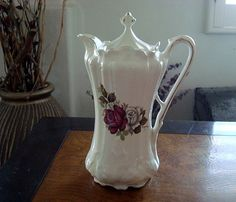 Vintage Chocolate Pot with Floral Roses from House of Webster