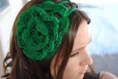 irish rose - headband for St. Patrick's day