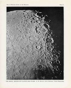 1955 VINTAGE MOON PRINTS - set of 3 original vintage prints - astronomy prints - lunar crater & maria moon views - lunar landscape prints - Antique Prints, Vintage Prints, Vintage Photos, Moon Texture, Moon Surface, Moon Setting, Vintage Moon, Moon Photography, Space And Astronomy