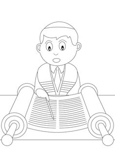 Coloring Book For Kids Stock Vector - Illustration of elements, clothing: 8074693 Online Coloring Pages, Colouring Pages, Coloring Pages For Kids, Coloring Books, Simchat Torah, Rainbow Pages, Pencil And Paper, Silhouette, Drawing Lessons
