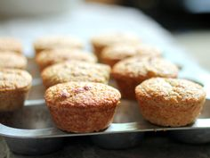 100 calorie Banana Oat Protein Muffins. No flour used or added sugar!