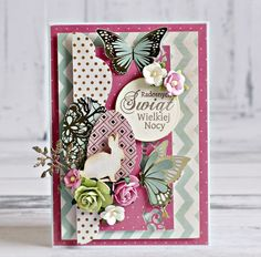 """Easter"""" Card 1 by Anna  Zaprzelska for Kaisercraft using 'All that Glitters' collection ~ Easter Cards Crafts & Decor."""