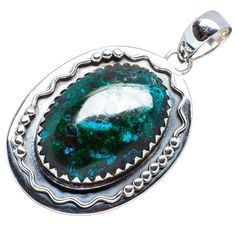 Ana Silver Co Shattuckite 925 Sterling Silver Pendant 2' *** Want to know more, click on the image. (This is an affiliate link) #PendantsandCoins