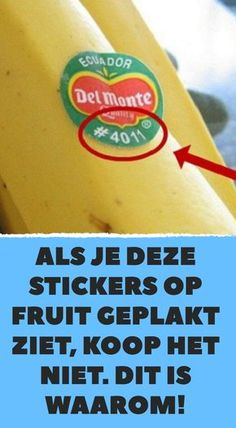 If you see these stickers stuck on fruit, don& buy it. - If you see these stickers stuck on fruit, don& buy it. Organic Lifestyle, Healthy Lifestyle, Weird But True, Simple Life Hacks, Healthy Recipes, Food Facts, Alzheimer, Fruit, Better Life