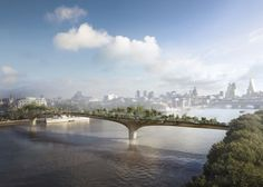 By 2017, you'll be able to cross the Thames River while traipsing through a garden. Sounds awesome!