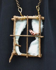 DIY mini window necklace...but I like it as an ornament or decorative piece