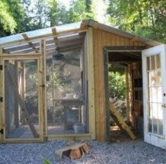 The three Ameraucana hens needed a new, larger coop and I wanted a greenhouse with a sink, so my neighbor, Shawn Thompson, who is an excellent carpenter and all around handyman, designed and built my chicken chateau and greenhouse duplex.  Now the...