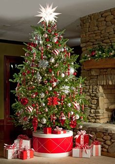 I like the idea of raising up the Christmas tree. More room for presents!!