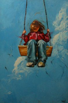 Print of Swing4 16x24 from oil painting by Roz by RozArt on Etsy, $55.00