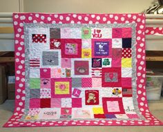 Custom quilt made from baby clothes. Www.prairiegirlquilts.com  See more pictures of my work on Facebook.