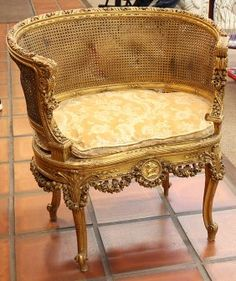 Lot: Louis XVI style giltwood salon chair, Lot Number: 6513, Starting Bid: $200, Auctioneer: Clars Auction Gallery, Auction: January Fine Art & Antique Auction, Day 2, Date: January 12th, 2014 HST
