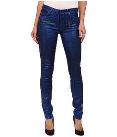 Paige Paige  Indio Zip Ultra Skinny in Blue Galaxy Coating Blue Galaxy Coating Womens Jeans for 174.99 at Im in!