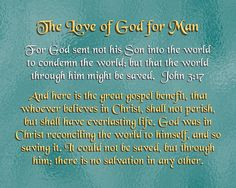 The Love of God for Man